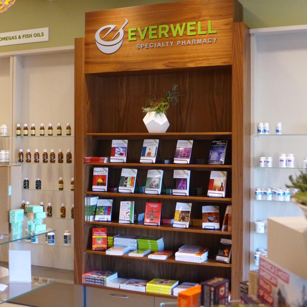 Designelement im Front End, Everwell Pharmacy, Apotheke bei AT Design Team