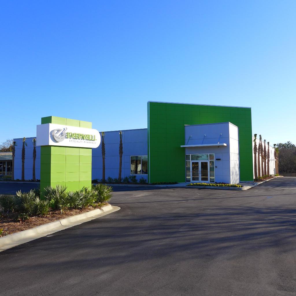 Gebäudeansicht, Everwell Pharmacy, Apotheke bei AT Design Team