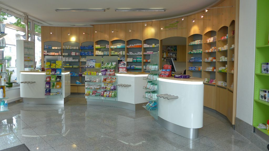 Offizin nachher, Apotheke Westfalen, Pharmacy by AT Design Team