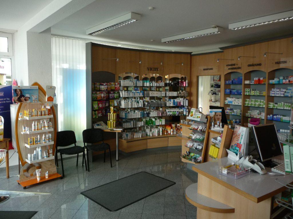 Säule und HVT vorher, Apotheke Westfalen, Pharmacy by AT Design Team
